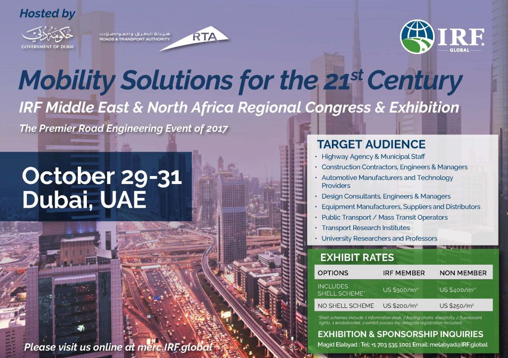 IRF MENA Regional Congress & Exhibition 2017